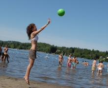 Public beach at lac des Sables