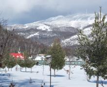 Le Domaine avec la vue sur le Mont-Tremblant