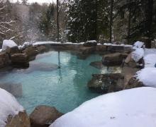 Bassin thermal d'eau salée