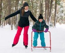 Sentiers de patin et anneaux de glace dans les Laurentides