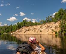 Canot sur la rivière Rouge,