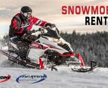 snowmobile rental Laurentian tour