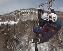 Zipline Laurentians, winter activity