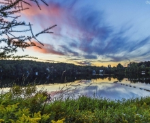 Saint-Faustin-Lac-Carré coucher de soleil sur le lac Carré