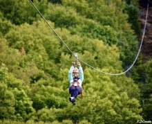 Thrill and fun ziplines Laurentians