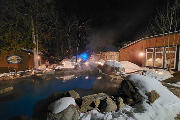 Le spa en hiver