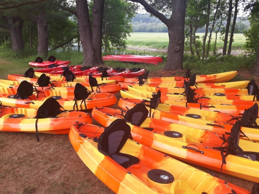 Location canot, kayak double, simple, pêche, paddle