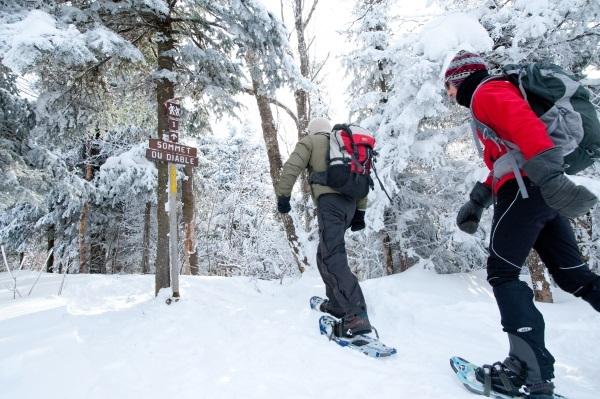 snowshoeing Hautes-Laurentides