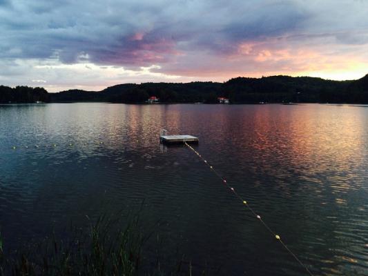 Enjoy sunsets at the lake