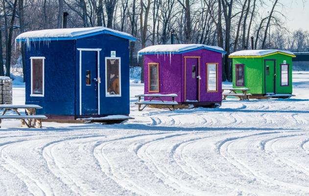 Village de pêche sur glace