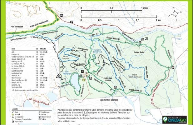 Carte des sentiers