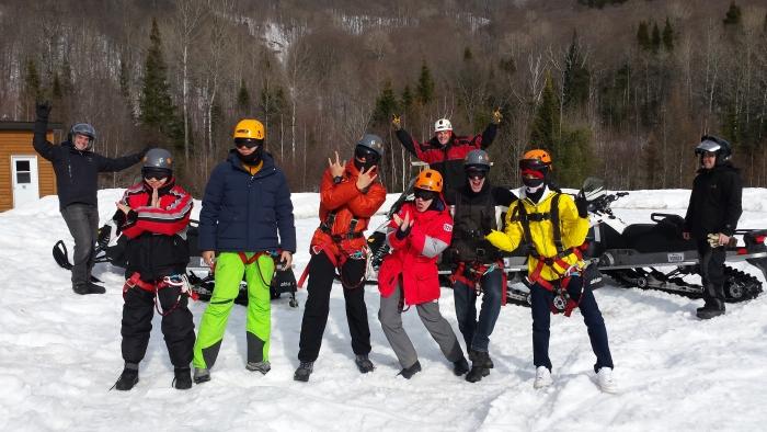 Corporate group winter activities