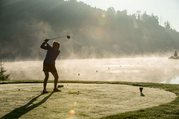 Golf at its best, in the early morning light.