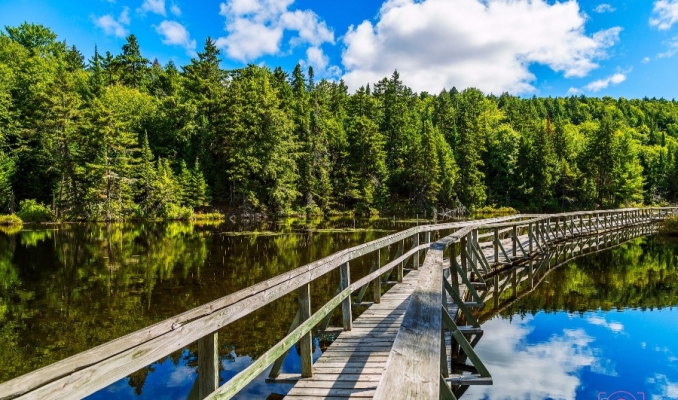 Eco Parc near Mont-Tremblant hiking trails, kayak and canoe rental