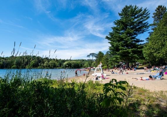 Jean-Guy Caron's beach (lac Rond)