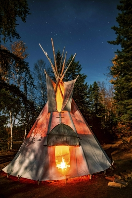 Tipi by water