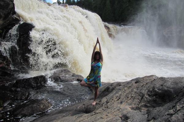 Chutes, Yoga, nature, détente, canot, kayak, pêche doré, pêche brochet