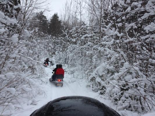 balade motoneige guidée et traineau à chiens laurel aventure nature
