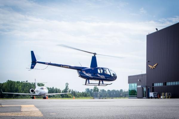 Héliport certifiée à l'aéroport internation de Mirabel
