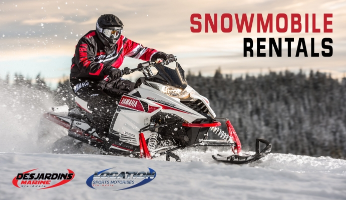 Snowmobile rental in the Laurentians - snowmobile tour