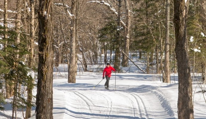 Cross-country skiing mont-tremblant