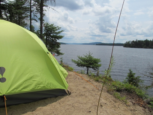 Camping by water