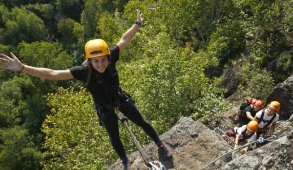 Via Ferrata, family activity near Mont-Tremblant
